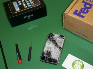 """iPhone with """"micro"""" breakage!"""