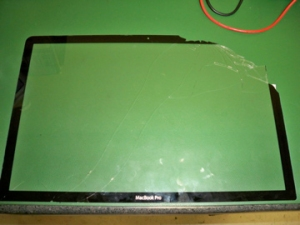 Glass Panel removed from screen assembly!