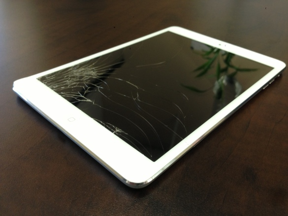 Broken iPad Mini Glass, cracked ipad mini