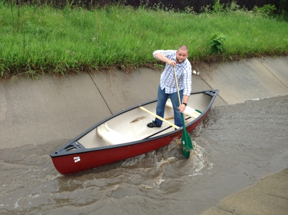 Troy the gondolier.  Or is he a canoier?