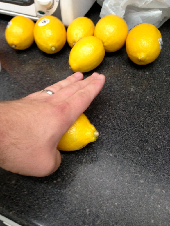 Roll the lemons to help release the juice.