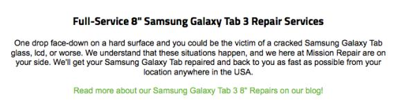 galaxy tab 3 screen repairs!