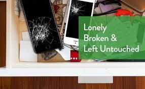 Broken iPhone drawer